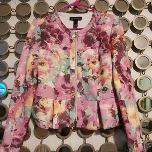 INC Floral Peplum Jacket